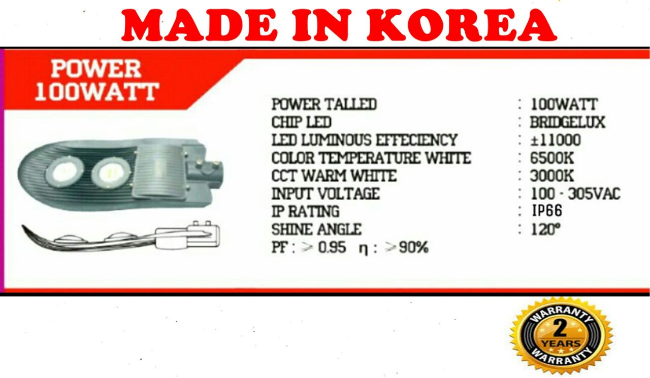 Lampu jalan led ip66 made in korea