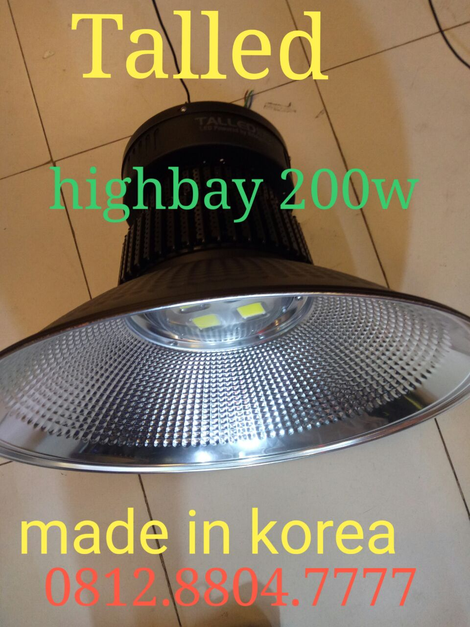 Lampu industri highbay led 200w merk Talled made in korea